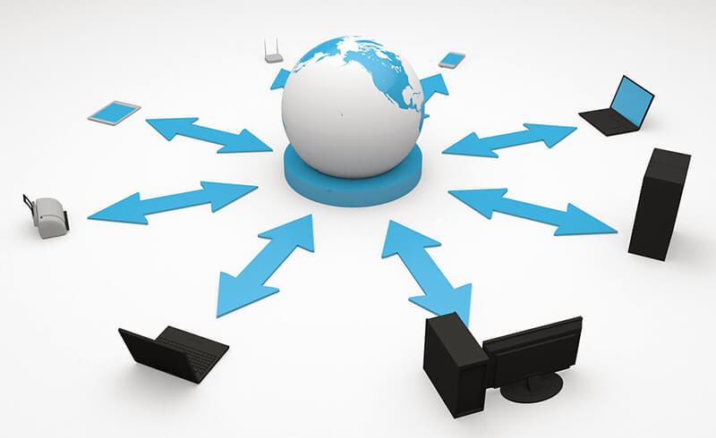 クライアントサーバモデルの概念図